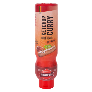 Curryketchup van Pauwels Sauzen in 1 liter tube