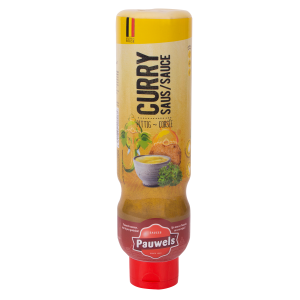 Currysaus van Pauwels Sauzen in 1 liter tube