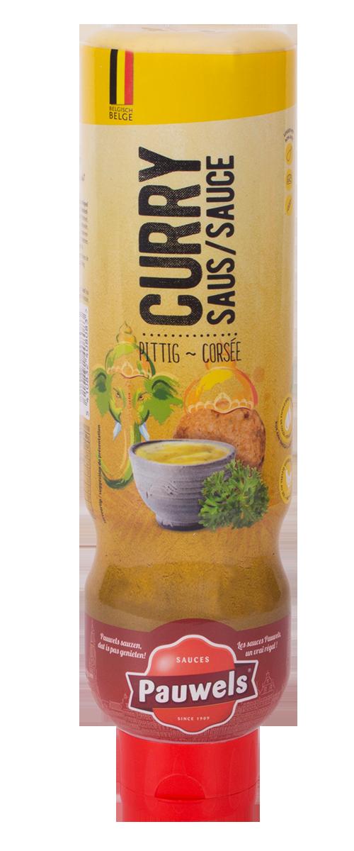Currysaus van Pauwels Sauzen in 1 liter tube