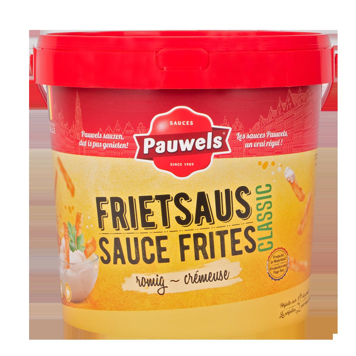 Frietsaus van Pauwels Sauzen in 10 liter emmer