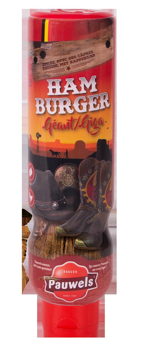 Hamburger Giga van Pauwels Sauzen in 1 liter tube