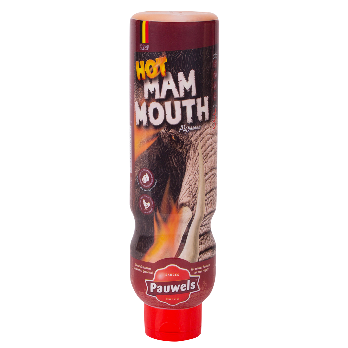 Hot Mammouth van Pauwels Sauzen in 1 liter tube