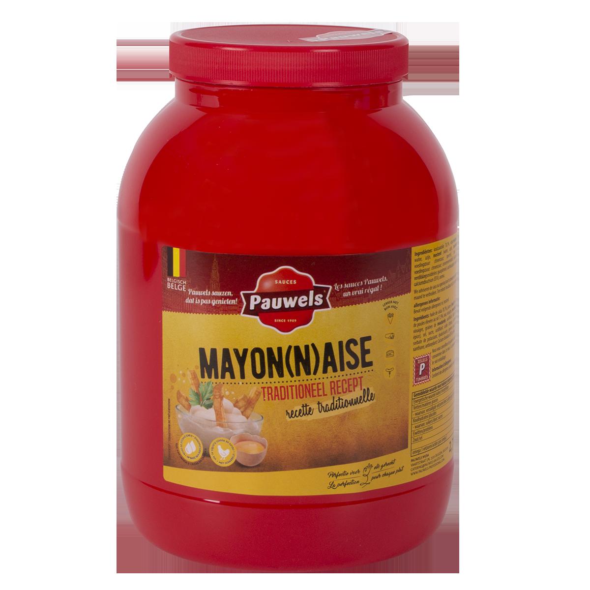Mayonaise van Pauwels Sauzen in 3 liter PET pot