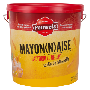Mayonaise van Pauwels Sauzen in 10 liter emmer