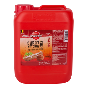 Curry Ketchup Chef van Pauwels Sauzen in 6 liter jerrycan