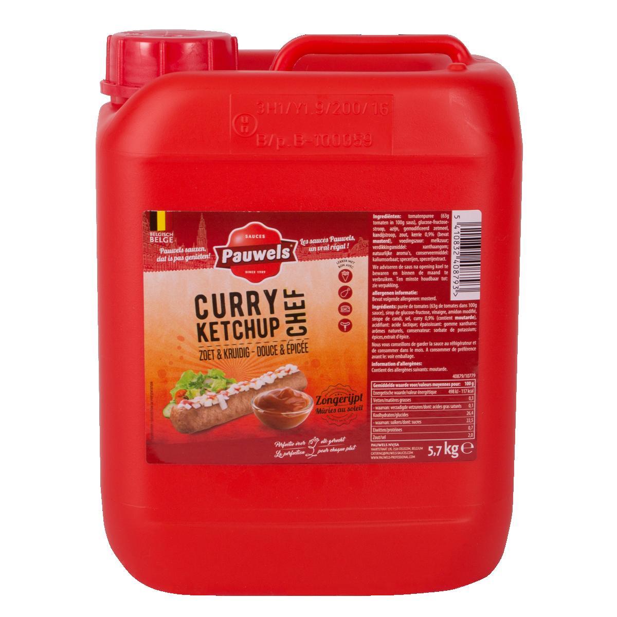 Curry Ketchup Chef van Pauwels Sauzen in 6 liter jerrycan