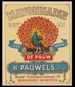 Etiket van Pauwels Sauzen