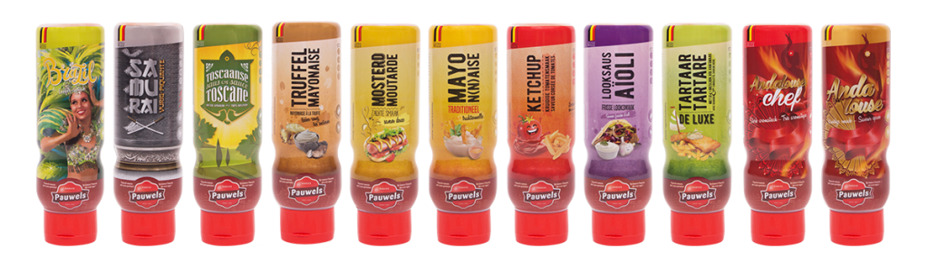 sauzen assortiment 500ml pauwels