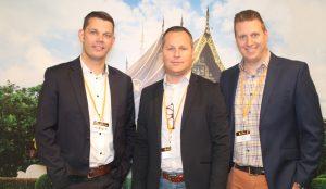 Gunther Cochuyt, Raf Colson en Jeroen De Meyer Sales Team Vlaanderen Pauwels Sauzen
